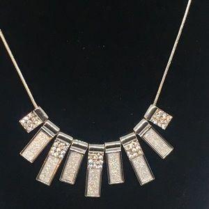 LOFT Abstract Rhinestone Bib Choker Necklace